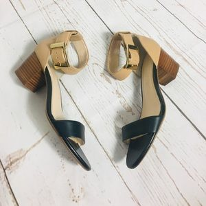 Banana Republic leather block heel sandals sz 6.5